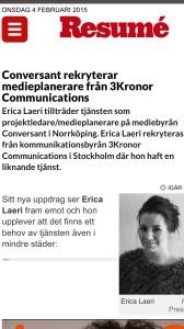 Erica Resumé